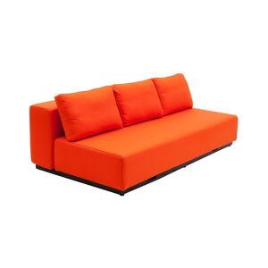 Oranžová rozkládací pohovka Softline Nevada, 200 cm