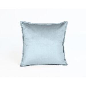 Světle modrý sametový polštář Velvet Atelier Terciopelo,45x45cm