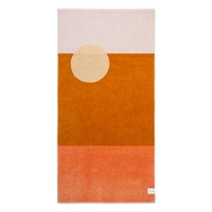 Oranžová plážová osuška Sunnylife Deset Palms