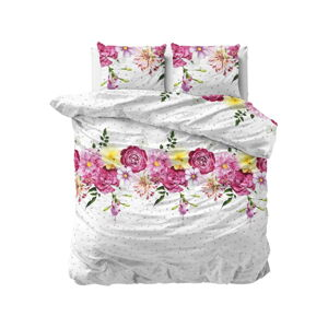 Flanelové povlečení na dvoulůžko Sleeptime Love Garden,200x220cm