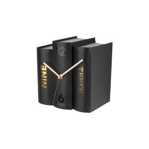 Černé stolní hodiny ve tvaru knih Karlsson