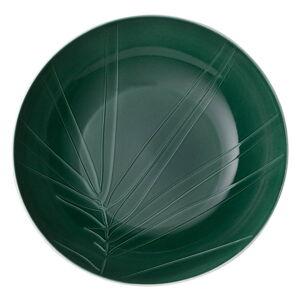 Bílo-zelená porcelánová servírovací miska Villeroy & Boch Leaf, ⌀ 26 cm