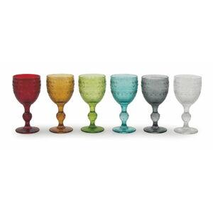 Sada 6 barevných sklenic na víno Villad'Este Mexico,235ml
