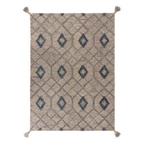 Šedý vlněný koberec Flair Rugs Diego, 200 x 290 cm