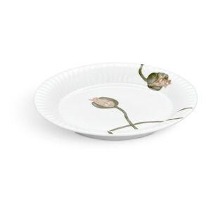 Bílý porcelánový talíř Kähler Design Hammershøi Poppy, ø19cm