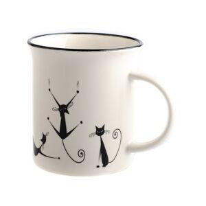 Porcelánový hrnek Dakls Cats Nero, 310 ml
