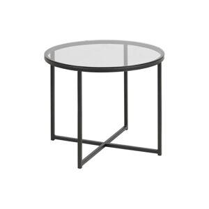 Odkládací stolek se skleněnou deskou Actona Cross, ⌀ 55 cm