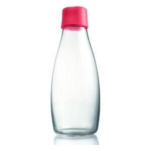 Malinově růžová skleněná lahev ReTap s doživotní zárukou, 500ml