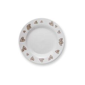 Bílý kameninový polévkový talíř Brandani Batticuore