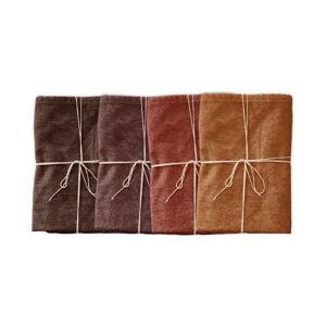 Sada 4 látkových ubrousků s příměsí lnu Linen Couture Red Gradient, 43 x 43 cm