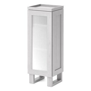 Bílá koupelnová skříňka z dubového dřeva Wireworks Mezza