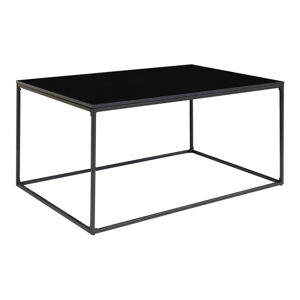 Černý konferenční stolek s kovovým rámem House Nordic Vita, 90 x 60 cm