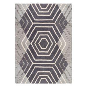 Šedý vlněný koberec Flair Rugs Harlow, 120 x 170 cm