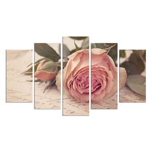Vícedílný obraz Love Letter With A Rose, 110x60 cm