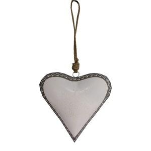 Závěsná dekorace ve tvaru srdce Antic Line Light Heart, 20 cm