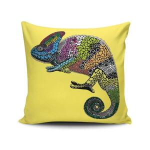 Žlutý polštářek Chameleon