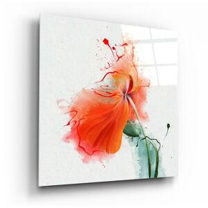 Skleněný obraz Insigne Flower,100 x100cm