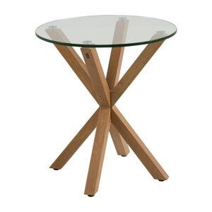 Příruční stolek se skleněnou deskou Actona Heaven, ⌀55cm