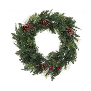 Vánoční věnec se šiškami Unimasa,ø60cm