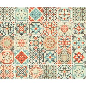 Sada 30 nástěnných samolepek Ambiance Azulejos Verone, 10 x 10 cm