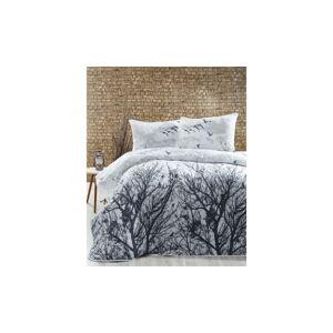 Lehký přehoz s povlaky na polštáře Peace Grey,200x220cm