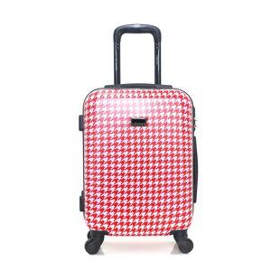 Červenobílé zavazadlo na 4 kolečkách Lollipops Molly, 31l