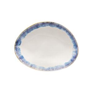 Modrobílý kameninový dezertní talíř Costa Nova Brisa
