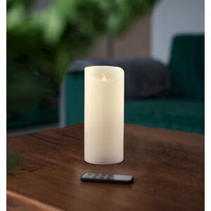 LED svíčka s dálkovým ovládáním DecoKing Wax, výška 15 cm