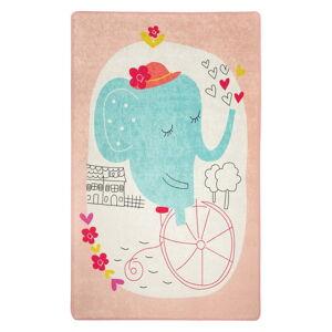 Dětský protiskluzový koberec Chilai Elephants Bike140x190cm