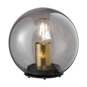 Černá skleněná stolní lampa Fischer & Honsel Dini,ø20cm