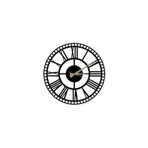 Černé nástěnné hodiny Roman Clock 2, ⌀ 50 cm