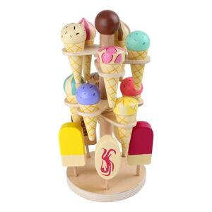 Set dřevěných zmrzlin na hraní se stojanem Legler Ice Stand