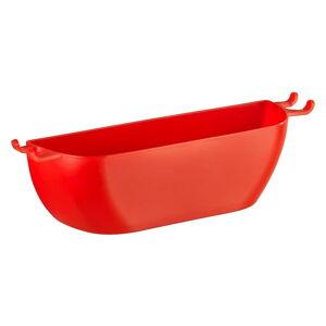 Červený nástěnný košík Wenko Turbo-Loc Brasil