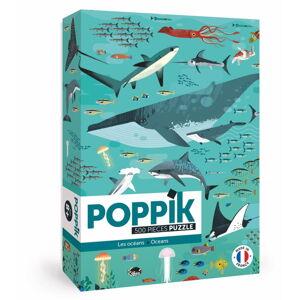 Samolepkové puzzle Poppik Oceány, 500 dílků