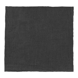 Černý lněný ubrousek Blomus, 42x42cm