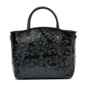Černá kožená kabelka Renata Corsi Rosa