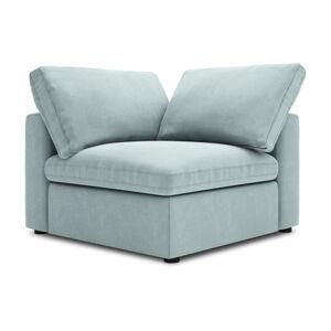 Světle modrá oboustranná rohová část modulární pohovky Windsor & Co Sofas Galaxy