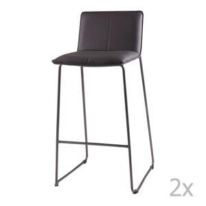 Sada 2 šedých barových židlí sømcasa Lou