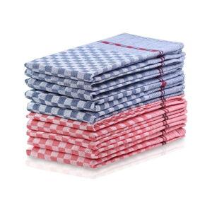 Sada 10 modro-červených bavlněných utěrek DecoKing Louie, 50 x 70 cm