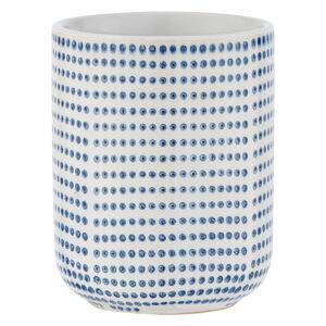 Modro-bílý keramický kelímek na kartáčky Wenko Nole