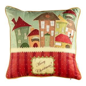 Vánoční povlak na polštář Mike&Co.NEWYORK Comfort Houses, 43 x 43 cm