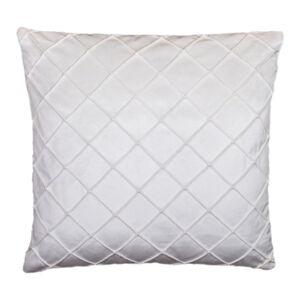 Smetanově bílý polštář JAHU Alfa, 45 x 45 cm