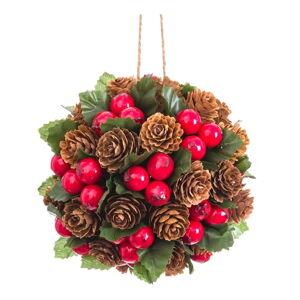 Závěsná kulatá vánoční dekorace Unimasa, ø 12 cm