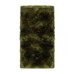 Tmavě zelený koberec z ovčí kožešiny Royal Dream Zealand Natur, 70x140cm