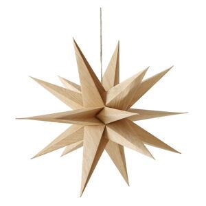 Hnědá vánoční závěsná dekorace Boltze Kassia,délka40cm