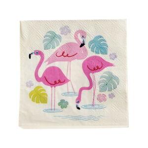 Sada 20 papírových ubrousků Rex London Flamingo Bay