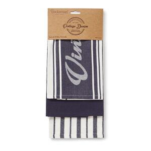 Sada 3 kuchyňských utěrek z bavlny Cooksmart ® Oxford Denim