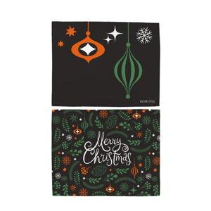 Sada 2 bavlněných prostírání s vánočním motivem Butter Kings Very Merry Christmas,45x35cm