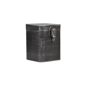 Černá kovová úložná dóza LABEL51, výška 18,5cm