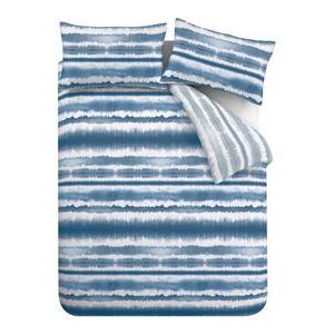 Modré povlečení Catherine Lansfield Tie Dye Seersucker, 135 x 200 cm